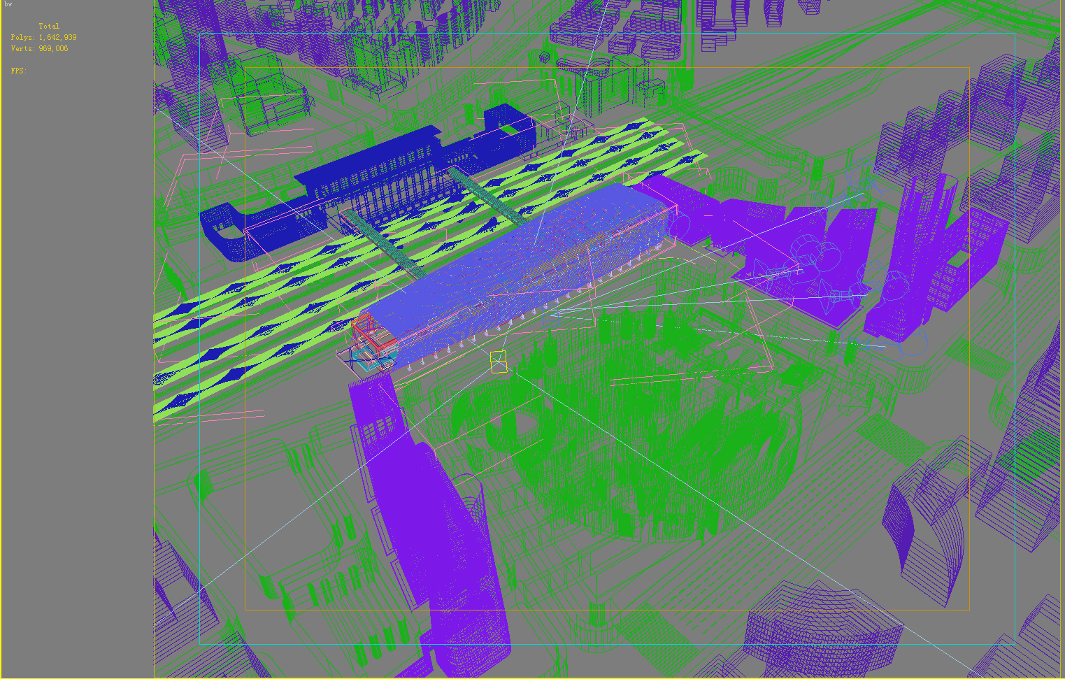 railway station 003 3d model 3ds 98205