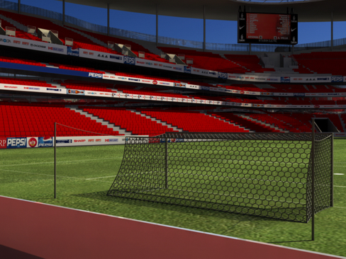 Estadi de futbol dos model 3d 3ds max object 127984