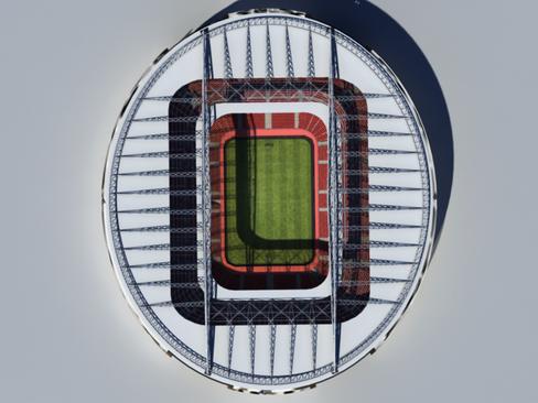 soccer stadium two 3d model 3ds max obj 127990