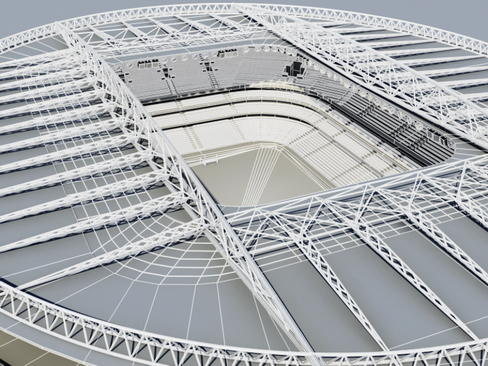 soccer stadium two 3d model 3ds max obj 127999