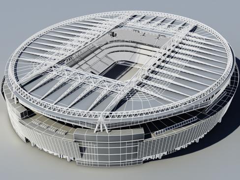 soccer stadium two 3d model 3ds max obj 128000