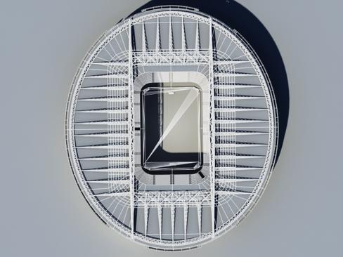 soccer stadium two 3d model 3ds max obj 128001