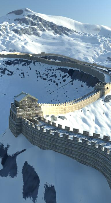 the great wall of china 3d model 3ds max 125277