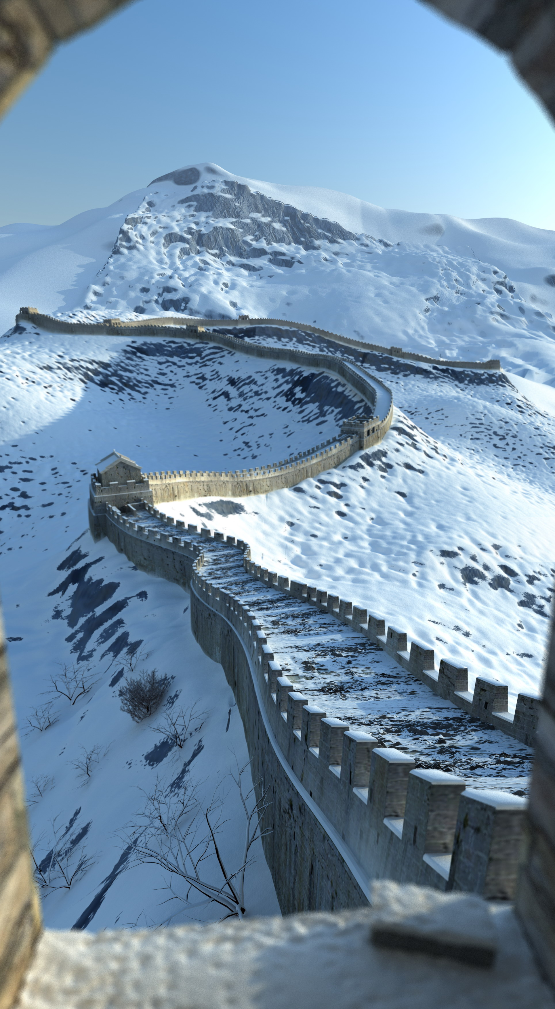 the great wall of china 3d model 3ds max 125278