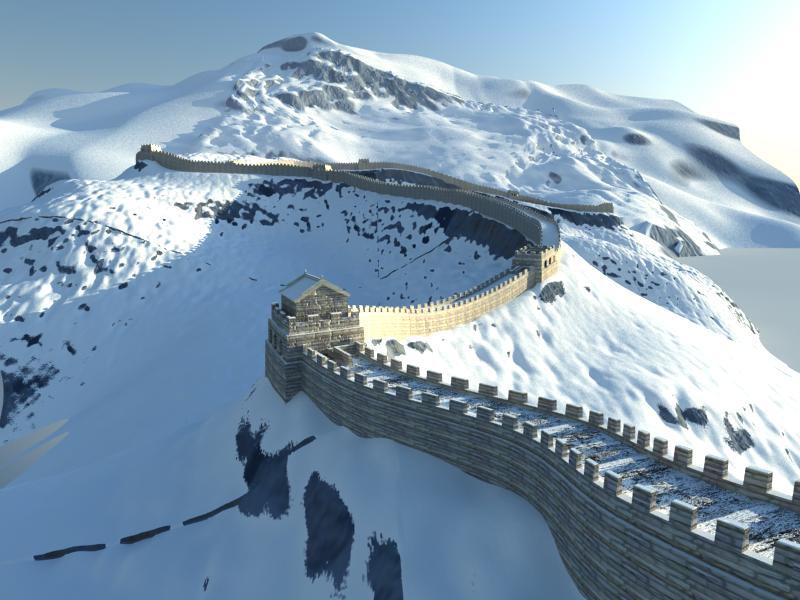 the great wall of china 3d model 3ds max 125279