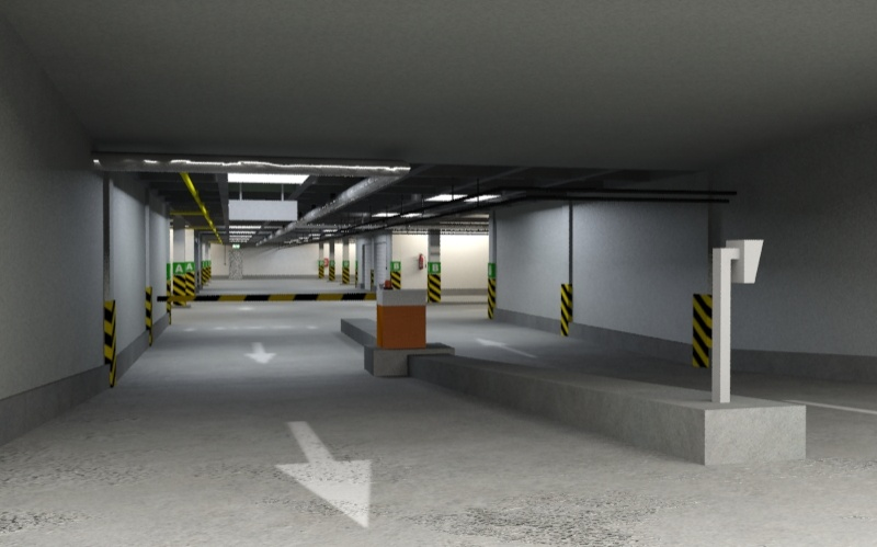 underground parking garage 01 3d model 3ds max fbx obj 130964