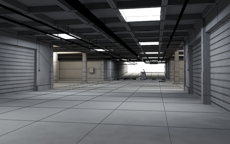 underground parking garage 01 3d model 3ds max fbx obj 130966