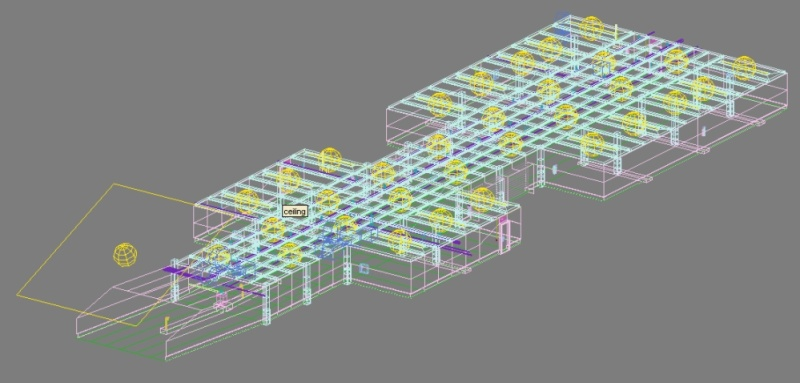 underground parking garage 01 3d model 3ds max fbx obj 130967
