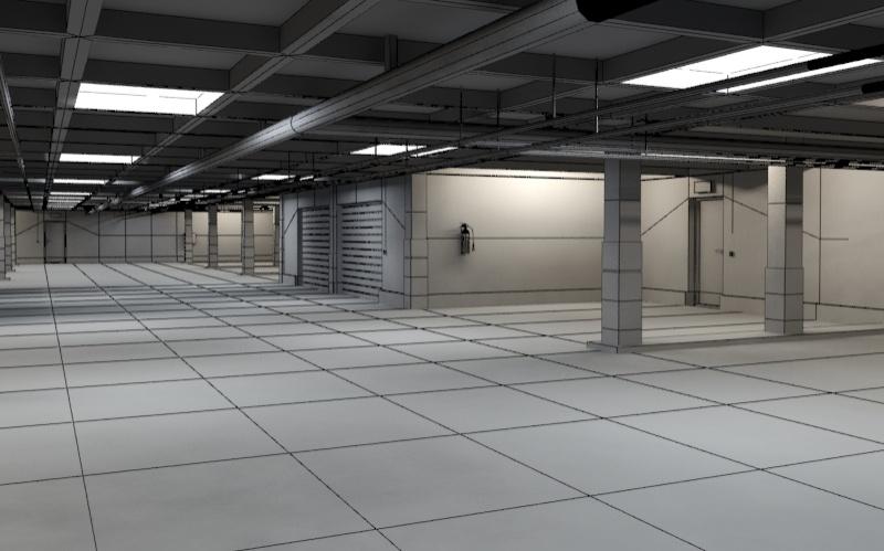 Underground parking garage 01 3d model buy underground for 3d garage builder
