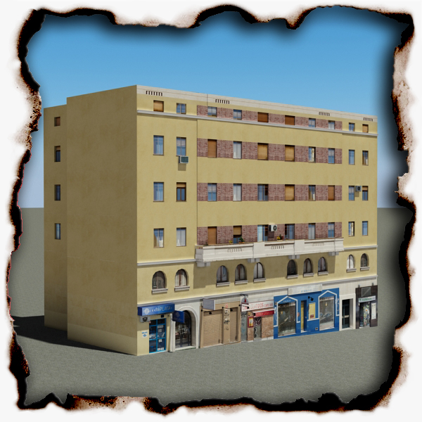 urban building 104 two 3d model 3ds max fbx texture obj 157980