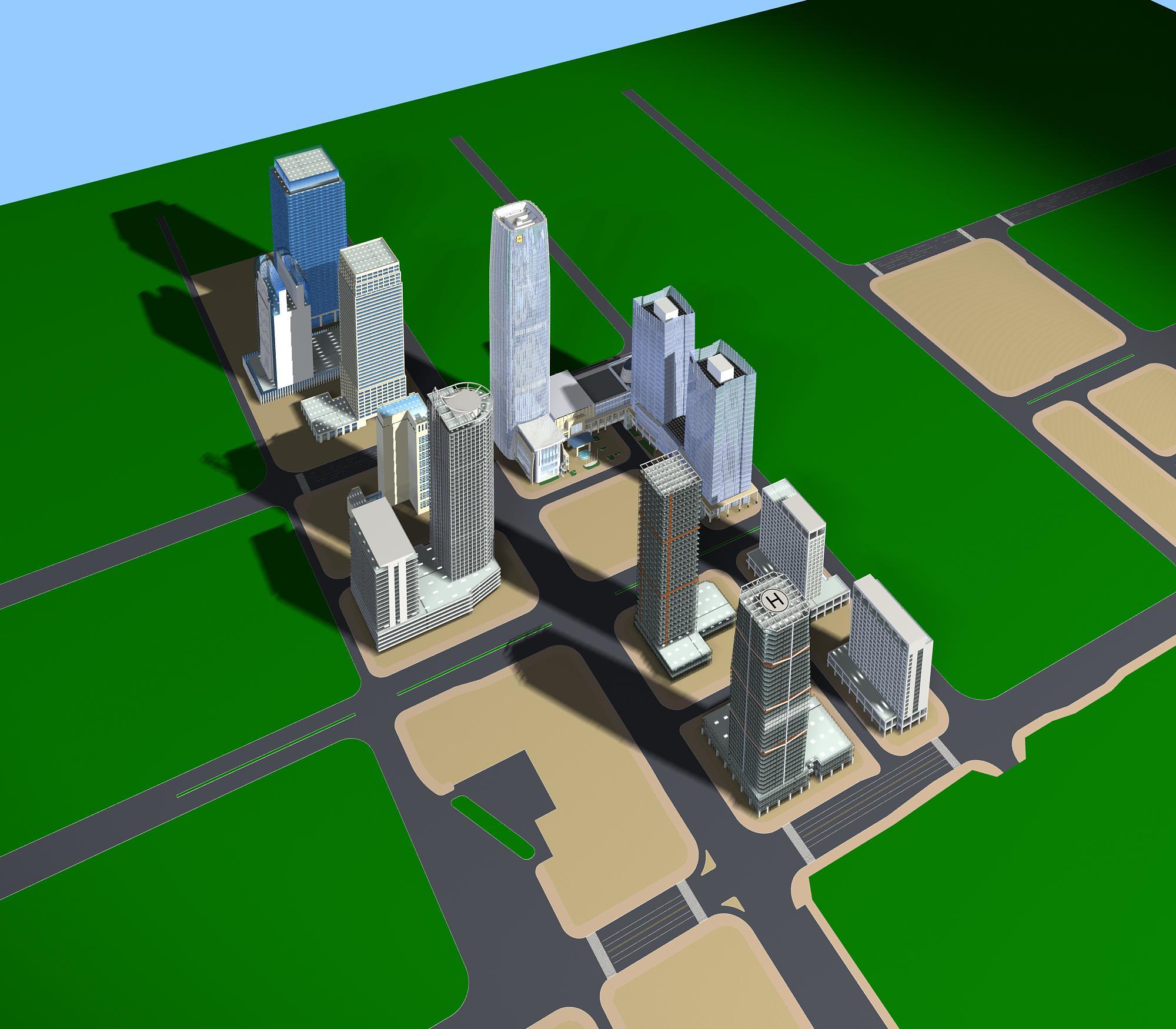 хот суурин газрын дизайн 099 3d загвар max psd 121486