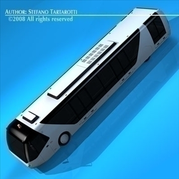 airport bus 3d model 3ds dxf c4d obj 85644