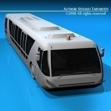 airport bus 3d model 3ds dxf c4d obj 85645