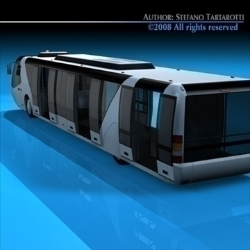 airport bus 3d model 3ds dxf c4d obj 85646