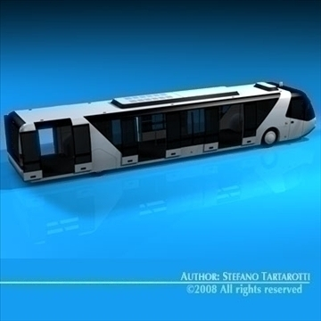 airport bus 3d model 3ds dxf c4d obj 85647