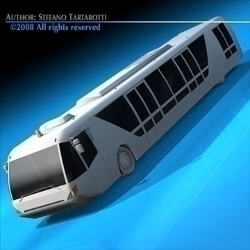 airport bus 3d model 3ds dxf c4d obj 85648