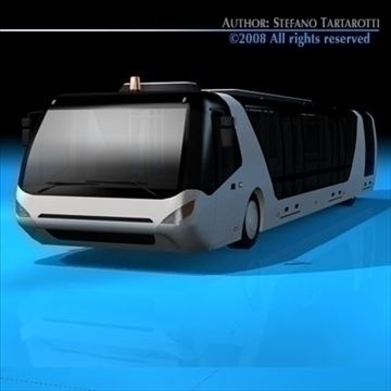 airport bus 3d model 3ds dxf c4d obj 85651