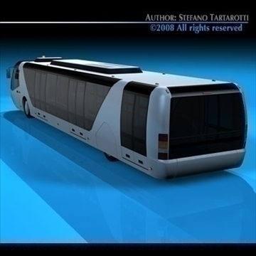airport bus 3d model 3ds dxf c4d obj 85652