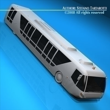 airport bus 3d model 3ds dxf c4d obj 85653