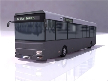 autobus një model 3d 3ds max obj 112102