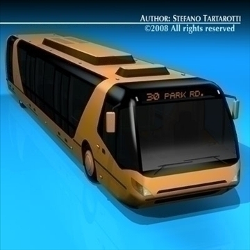 city bus v1 3d model 3ds dxf c4d obj 85688