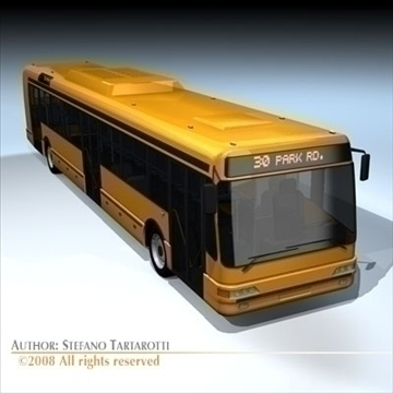 city bus2 3d model 3ds dxf c4d obj 89190