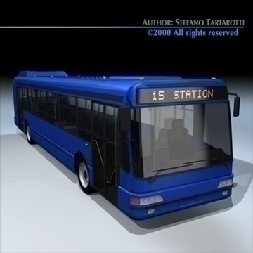 intercity bus 3d model 3ds dxf c4d obj 89182