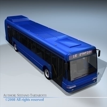 intercity bus 3d model 3ds dxf c4d obj 89183