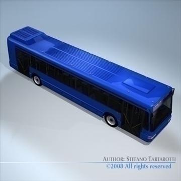 intercity bus 3d model 3ds dxf c4d obj 89184