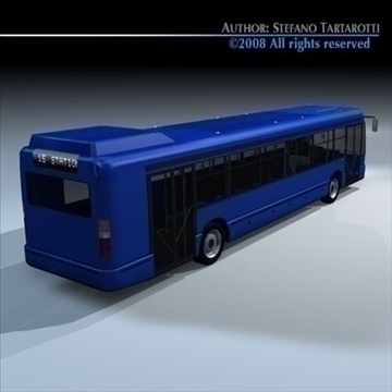 intercity bus 3d model 3ds dxf c4d obj 89185