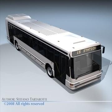 intercity bus 3d model 3ds dxf c4d obj 89189
