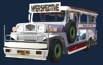 philippine jeepney 3d model 3ds lwo tiff obj other 97334