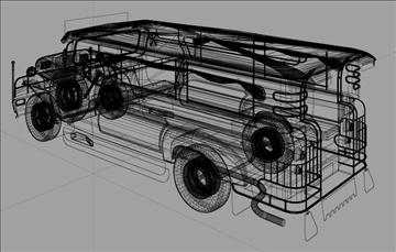 philippine jeepney 3d model 3ds lwo tiff obj other 97339
