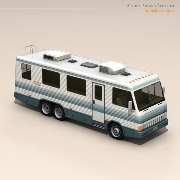 recreational vehicle 3d model 3ds max dxf fbx c4d dae ma mb obj 124274