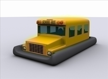 yellow school bus hover boat 3d model max 79366