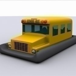 Yellow school bus hover boat ( 41.22KB jpg by newline )