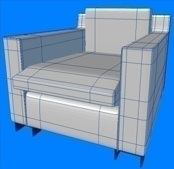armchair white 3d model lwo 82153