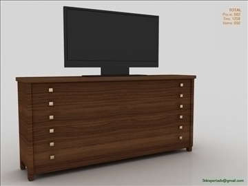 spavaća soba s tv 3d model 3ds max fbx obj 106489