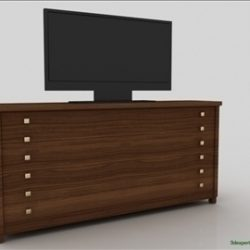 Bedroom cabinet with TV ( 45.52KB jpg by 3dexpertadv )