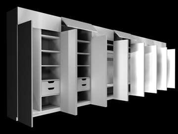 cabinet 3d model 3ds c4d 100833