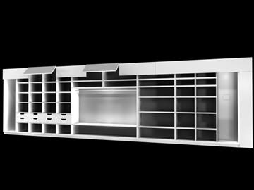cabinet 3d model 3ds c4d 100836