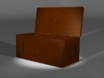cedar chest 3d model 3ds dxf lwo 81080