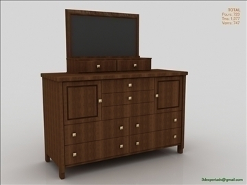 komoda 3d model 3ds max fbx obj 106492