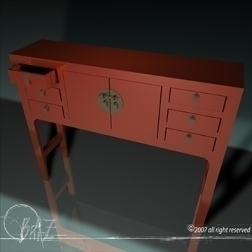 chinese cabinet 3d model 3ds dxf c4d obj 109174