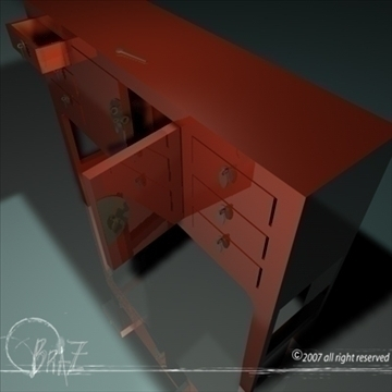 chinese cabinet 3d model 3ds dxf c4d obj 109177