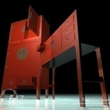 chinese cabinet closet 3d model 3ds dxf c4d obj 109187