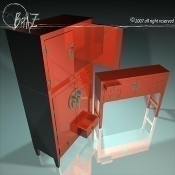 chinese cabinet closet 3d model 3ds dxf c4d obj 109188