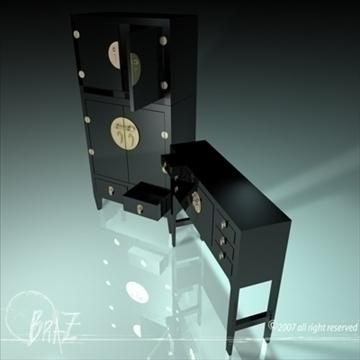 chinese cabinet closet 3d model 3ds dxf c4d obj 109189