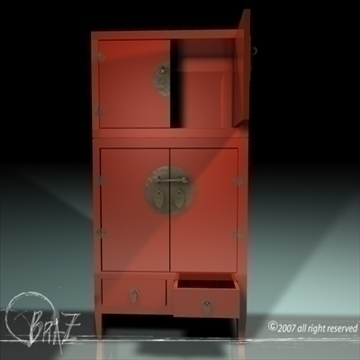 chinese closet 3d model 3ds dxf c4d obj 109180