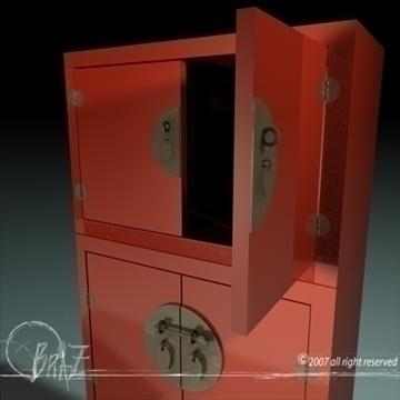 chinese closet 3d model 3ds dxf c4d obj 109181